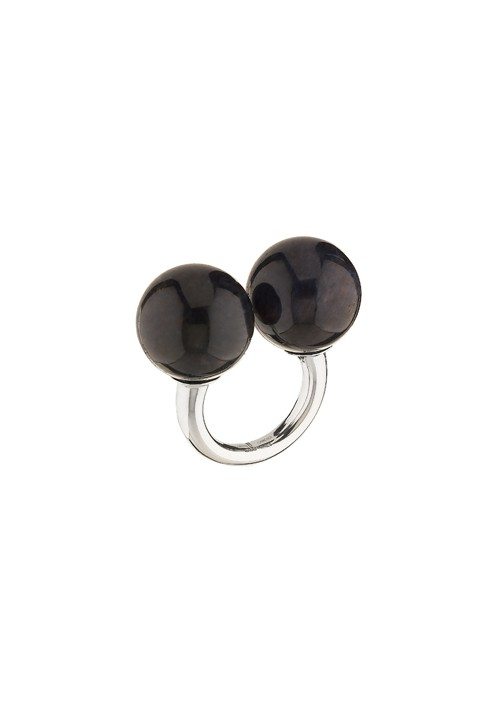 BETONY VERNON - ONYX DOUBLE SPHERE MASSAGE RING