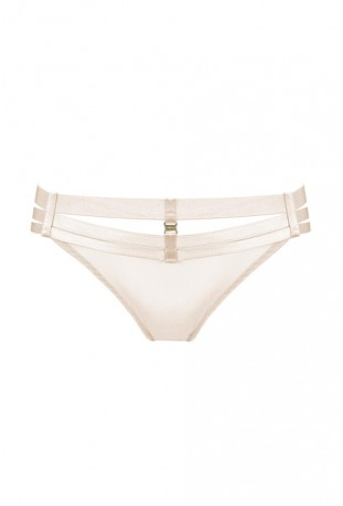 BORDELLE - ART DECO OUVERT STRAP BRIEF CREAM