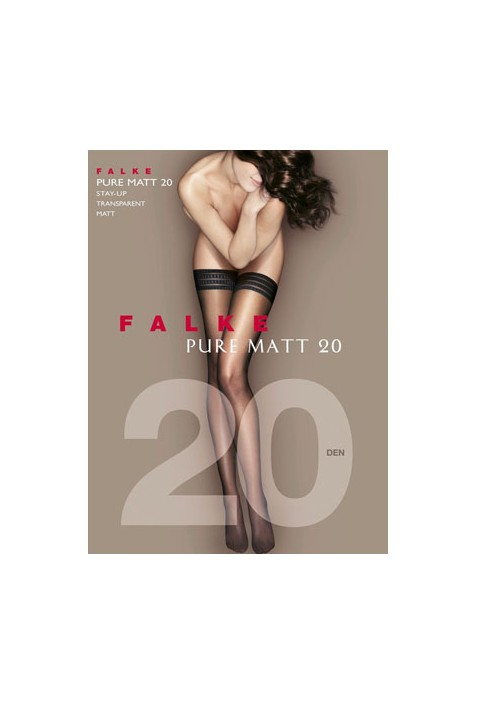 FALKE - PURE MATT 20 DEN STAY UPS