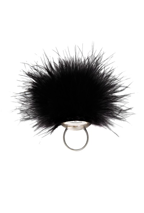 Ostrich Pleasure Puff Ring